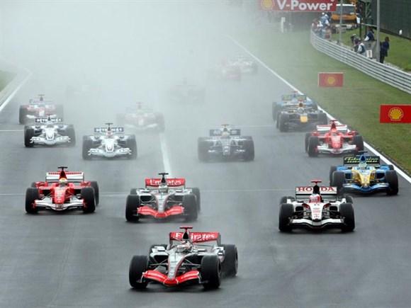 Largada do GP da Hungria de 2006.