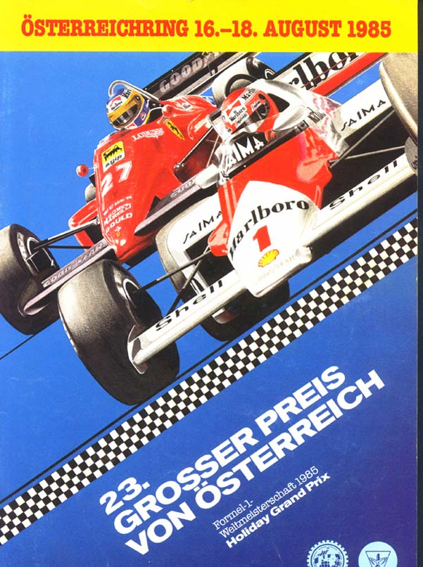 Pôster do GP da Áustria de 1985.