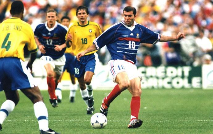 Zidane na final de 98.