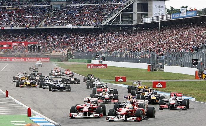 Largada do GP da Alemanha de 2010.