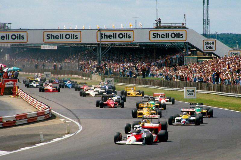 Largada do GP da Grã-Bretanha de 1987.