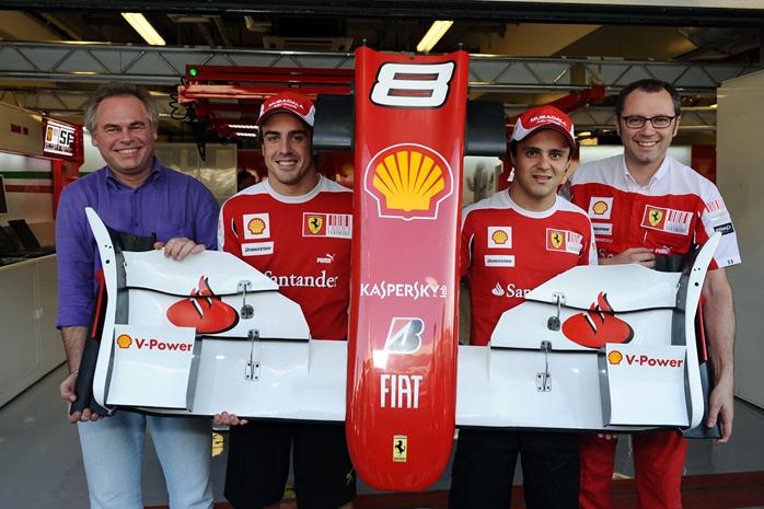 Fernando Alonso e Felipe Massa em 2010.