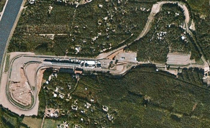 Imagem aérea do Circuito de Zolder.