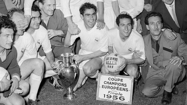Primeiro título da Champions conquistado pelo Real Madrid.