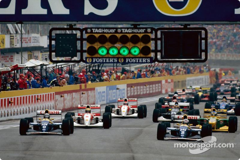Largada do GP da Itália de 1993.