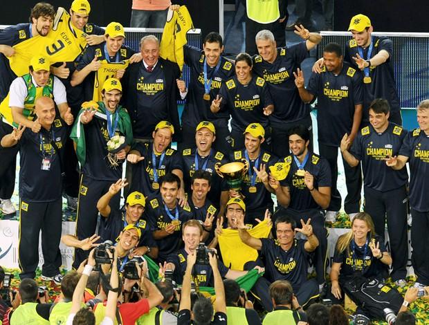 Seleção brasileira tricampeã mundial.